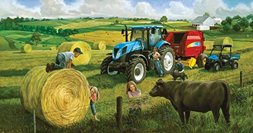 Big Round Baling Day a 500-Piece Jigsaw Puzzle by Sunsout Inc.