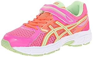 ASICS Pre Contend 3 PS Running Shoe (Toddler/Little Kid), Hot Pink/Pistachio/Fiery Coral, 11 M US Little Kid