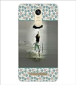 PrintDhaba Girl with Umbrella D-2616 Back Case Cover for XIAOMI REDMI NOTE 3 PRO (Multi-Coloured)
