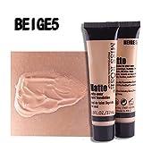MISS ROSE Brand Foundation Base Matte Liquid Concealer Maquiagem Pore Covers Face Whitening Liquid Foundation Oil Control Cream (BEIGE05) (Color: BEIGE05)