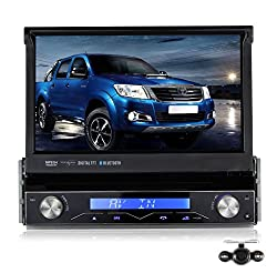 See Pumpkin 7 Inch In Dash HD Touch Screen Car DVD Player GPS Navigation Stereo Support Bluetooth/SD/USB/Ipod/AV-IN/DVR/3G with Backup Camera as gift Details