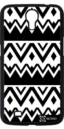 Hülle für Samsung Galaxy Mega 6.3 (GT-I9205) - Azteken -Muster-Schwarz und Weiß - ref 581
