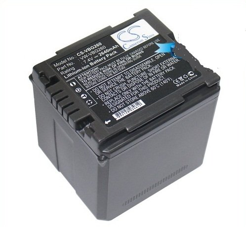Schwarz DC und DV Akku 2640 mAh für Panasonic VW-VBG260 VW-VBG260-K VW-VBG260PPK /Panasonic HDC-SD9 HDC-HS9 HDC-SD5HDC-SD1 HDC-SX5 SDR-H60 SDR-H40 SDR-H50 SDR-H41 SDR-H200 SDR-H280 SDR-H18 VDR-D310 VDR-D50 VDR-D51 VDR-D230 VDR-D220 VDR-D210 PV-GS500 PV-GS85 PV-GS83 PV-GS90 PV-GS80 PV-GS320 HDC-SD100 NV-GS330 NV-GS500 HDC-HS100 SD100 GS98GK H48 H288GK H68GK SS100 HDC-TM300K HDC-HS300K HDC-HS250K HDC-TM20K HDC-TM20K8 HDC-TM20S HDC-TM20R HDC-HS20K HDC-SD20K HDC-TM10K HDC-SD10K HDC-SD9-8GB HDC-TM15K