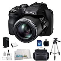 Fujifilm FinePix SL1000 Digital Camera SSE Bundle Kit Includes 32GB Memory Card, High Speed Card Reader, Replacement NP-85 Battery, Rapid Travel Charger, Carrying Case, Tripod and more