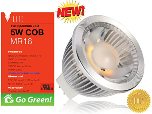 Best Mr16 Dimmable Led Light Bulb Plus A Free 5 Year Replacement Warranty And Free Energy Saving Guide. New To Amazon, Best Led Light Bulb In Independent Tests Among All Major Brands Of Led Bulbs. V-Lite Is Best In Savings, Long Life And Overall Quality O