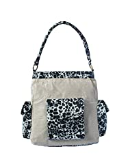 Stylocus Stylish HandBag Jute Bag With Animal Print Beige Color With White Black