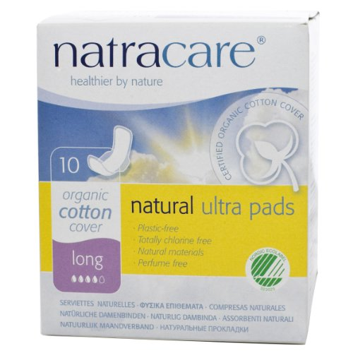 Natracare Natural Ultra Pads With Wings, Long, 10-Count Boxes (Pack Of 12)
