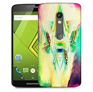 Snoogg Triangles On Colorful Smoke Abstract Designer Protective Phone Back Case Cover For Motorola Moto X Play