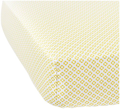 Serena & Lily Cut Circles Crib Sheet - Citrine - 1