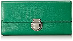 Fossil Riley Large Flap Wallet, Malachite, One Size