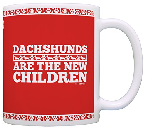 Dog Lover Gifts Dachshunds are the New Children Doxen Doxie Weiner Dog Gift Coffee Mug Tea Cup Red (Weiner Dog Picture compare prices)