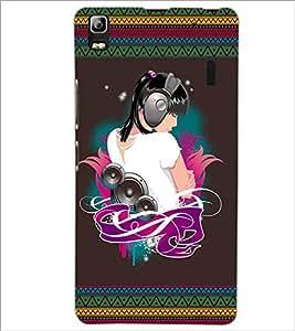 PrintDhaba Music Girl D-2523 Back Case Cover for LENOVO A7000 PLUS (Multi-Coloured)