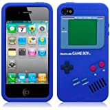 OnlineBestDigital - iPhone 4S / iPhone 4 Gameboy Style Etui silicone / Couverture / Shell - Bleu