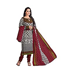 MAC Multi Printed Unstitched Salwar Suit for Women