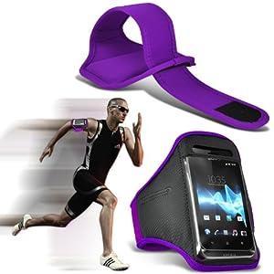 (Violet) Samsung S5 Mini Sport Universal Brassards en cours Cyclisme Vélo Gym Jogging Débarrasser bande de bras de cas de couverture par Spyrox