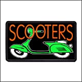 Scooters Backlit Illuminated Electric Window Sign – 13″x24″ Picture