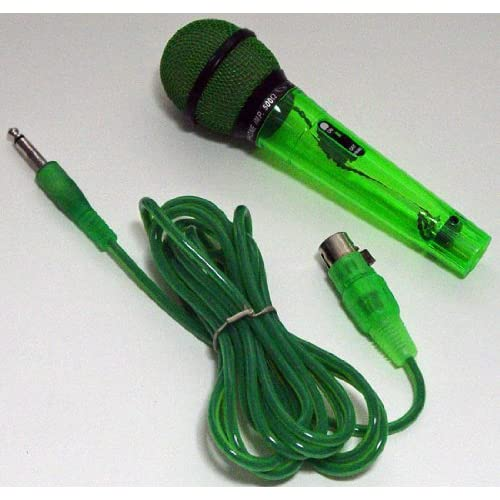 Amazon.com: NEW ACRYLIC NEON GREEN DYNAMIC MICROPHONE W/ 10' CABLE