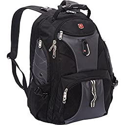 SwissGear Travel Gear ScanSmart Backpack 1900- eBags Exclusive (Black/Grey)