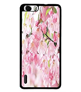 PrintDhaba Flowers D-5515 Back Case Cover for HUAWEI HONOR 6 (Multi-Coloured)