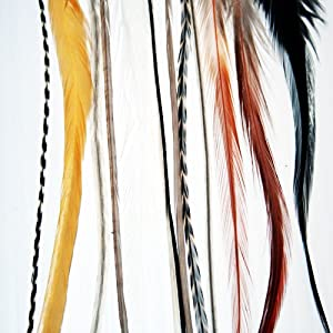 9 Long Hair Feathers - Feather Junkie Feather Hair Extensions