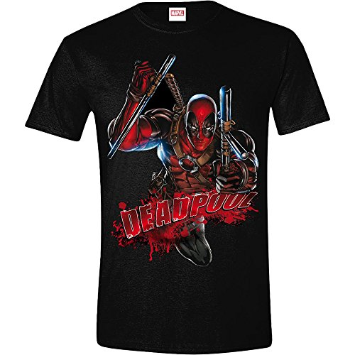 Deadpool Maglietta Maglia T Shirt Bloody Attack Size XL CODI