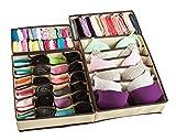 Adorn Insta-Shelf Set of 4 Closet Underwear Closet Storage Organizer,Drawer Organizer ,Drawer Divider