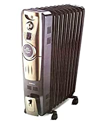Bajaj 2000 Majesty OFR RH 9 Plus Oil Filled Radiator Brown & Golden