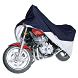 Classic Accessories 65-006-043501-00 MotoGear Blue and Silver Motorcycle Cover Touring, fits motorcycles up to 1500cc, full dress