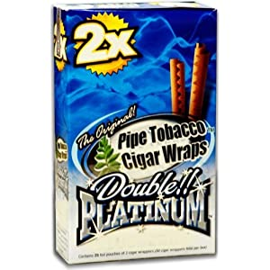 Double Platinum Flavored Blunt Wraps (Apple Martini) (Box of 50 Wraps)