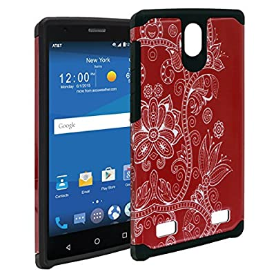 ZTE ZMAX Case, Mstechcorp Hard Impact Dual Layer Shockproof Bumper Case For ZTE ZMAX Z970 (T-Mobile) - Includes Accessories by mstechcorp