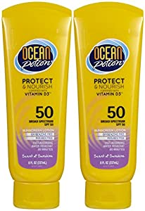 Ocean Potion Protect & Nourish Sunscreen Lotion SPF 50 - Scent of Sunshine - 8 oz - 2 pk