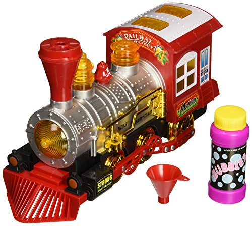 World King Toys Sharky Steam Bubble Blowing Train Engine Car Locomotive Bump and Go Battery Operated Toy Train with Lights and Sounds (Steam Toy Train compare prices)