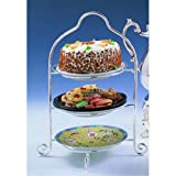Elegance Silver 8509 Silver Plated 3 Tier Dessert Stand