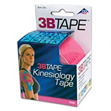 "3B Scientific S-3BTPIN Pink Cotton Rayon Fiber Kinesiology Tape, 16' Length x 2"" Width"