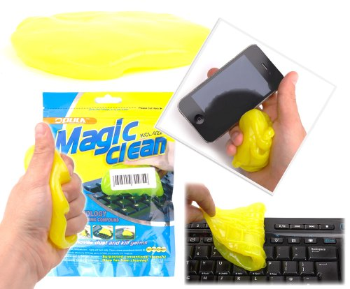 Duragadget Yellow Multi-Purpose Multi-Use Cleaning Flubber With Disinfectant For Removing Dust And Debris From Jewellery - Gets Into The Hard Places