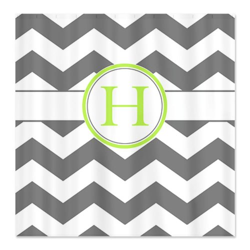 grey and white chevron shower curtain. CafePress Gray and White Chevron Monogram H Shower Curtain  Standard Chevrons Curtains Outlet