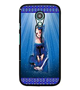 PrintDhaba Sad Animated Girl D-3572 Back Case Cover for MEIZU M1 NOTE (Multi-Coloured)