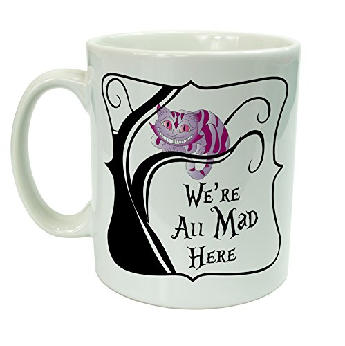 Alice in Wonderland-Mad We're Here tutto il gatto del Cheshire di 10 oz Tazza in ceramica