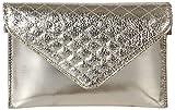 Kuero Women's Clutch (Silver)