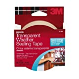 3M Interior Transparent Weather Sealing Tape, 1.5-Inch by 10-Yard (2110NA)