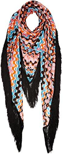 PINKO 1G202X-5762, Sciarpa Donna, Multicolore (ZY5 Mult.Nero/Fux), Unica