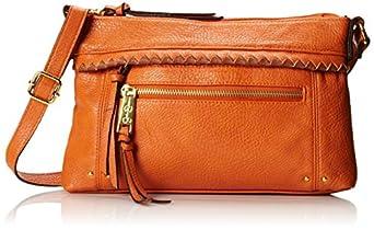 Jessica Simpson Dream Weaver Cross Body Bag,Pumpkin/Luggage,One Size