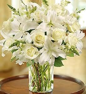Amazon.com : 1-800-Flowers - Classic All White Arrangement