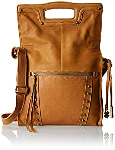 Lucky Brand Studded Abbey Road Cross Body Bag,Cognac,One Size