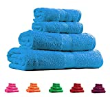 Trident Teal Sachet 4 Pcs Couple Bath Towels Set