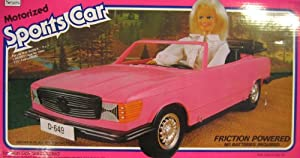 Sears motorized sports car convertible vehicle for Motorized barbie convertible car