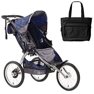 Buy BOB ST1007 Ironman Single Stroller with Diaper Bag - Navy by BOB