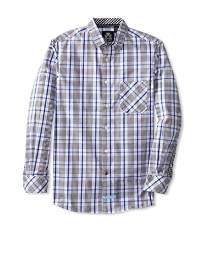 English Laundry Men's Plaid Sportshirt