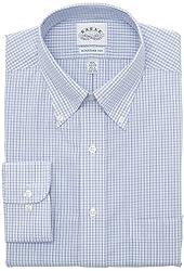 Eagle Men's Regular-Fit Non-Iron Windowpane-Check Dress Shirt