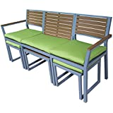 AE Outdoor Convertible Dining Set with Sunbrella Fabrics, Pelhem Green